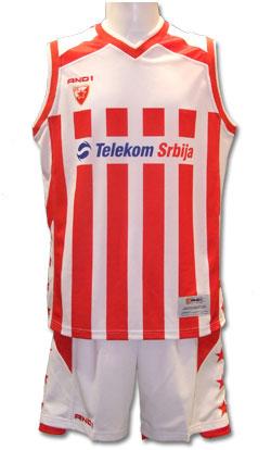 Red star basketball kit 0708   YU Sport Shop 635505102
