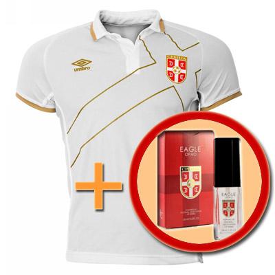 fbfdbcf97e1 Set - Serbia away jersey + parfume Eagle : YU Sport Shop