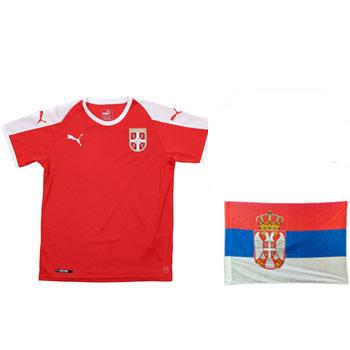 f42f66fe0e6 Fan set for WC - Puma jersey and flag Serbia 1.5 x 1 m : YU Sport Shop