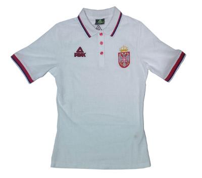 177e1f623 Peak Serbia womens national basketball team polo shirt - white   YU ...
