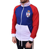 Serbia tracksuit sweat shirt with embroidered coat of arms