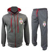 Grey tracksuit Serbia with embroided emblem