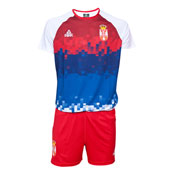 Peak training men`s jersey and shorts of volleyball team Serbia in white