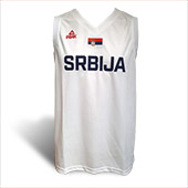 Peak Serbia national basketball team jersey for WC in China - white