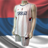 Peak Serbia national basketball team set - white
