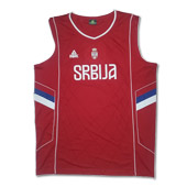 Peak Serbia national basketball team jersey - red