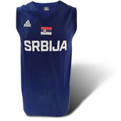 Womens Peak Serbia national basketball team jersey - blue