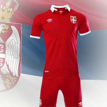 bab1c7f3f49 Umbro Serbia home kit 16 17 jersey + shorts   YU Sport Shop