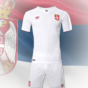 f58d4e4ee Umbro Serbia away kit 16 17 jersey + shorts   YU Sport Shop
