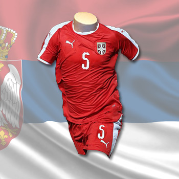 651f48a25 Puma kit - Serbia home jersey and shorts for World Cup 2018 with print : YU  Sport Shop