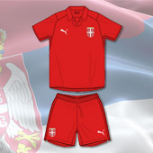 6f1560f5a Puma kit - Serbia home jersey and shorts for World Cup 2018 - first presale